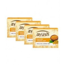 Ayush Purifying Turmeric Bath Soap Pack Of 4