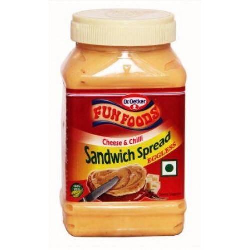 Funfoods Sandwich Spread - Cheese & Chilli ,  275GM