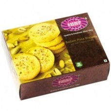 Karachi Bakery Badam Pista Biscuits (With real Saffron) , 400Gm Pack