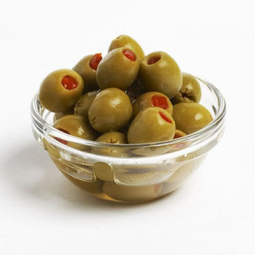 Spanish Green olives - Stuffed Pimiento , 450GM