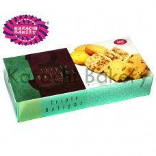 Karachi Bakery Pack Of Fruit ,Cashew and Pista Biscuits, 600 GM