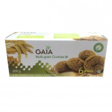 Gaia Biscuits - Multigrain (6 Grains) Cookies , 200 Gm Pack