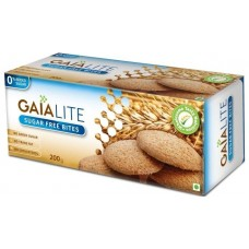 Gaia Lite Biscuits - Sugar Free bites , 200 Gm Pack