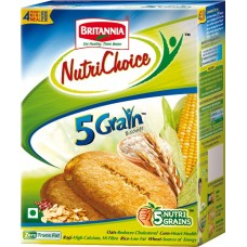 Britannia Biscuits - Nutrichoice 5 Grain , 150 Gm pack