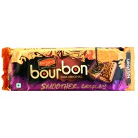 Britannia Biscuits - Bourbon Smoother Chocolaty , 150 Gm Pack