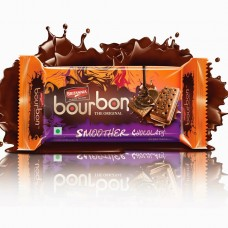 Britannia Biscuits - Bourbon Smoother Chocolaty , 75 Gm Pack