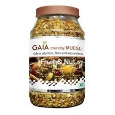 Gaia Crunchy Muesli -  Fruit & Nut , 1 KG Jar