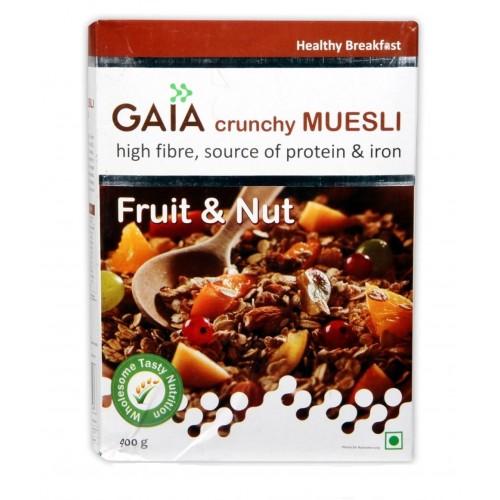 Gaia Crunchy Muesli -  Fruit & Nut , 400 GM