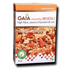 Gaia Crunchy Muesli - Nutty Delight , 400 GM