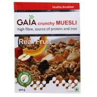 Gaia Crunchy Muesli - Real Fruit , 400 GM