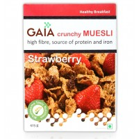 Gaia Crunchy Muesli - Strawberry , 400 GM