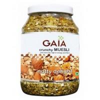 Gaia Crunchy Muesli - Nutty Delight , 1 KG Jar
