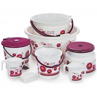 Cello Bathroom Set Deluxe 8PC Set (Colour May Differ)