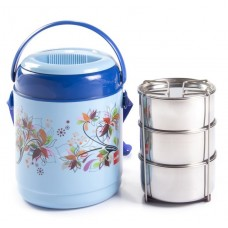 Cello Mark 3 Insulated Lunch Carrier 3 Container Lunch Box - Blue