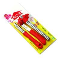 Super Slimline Lighter With Knife Set, 1PC
