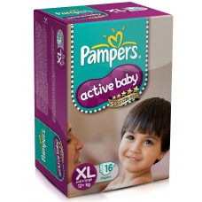 Pampers Active Baby Diapers - X Large (12+ Kgs)