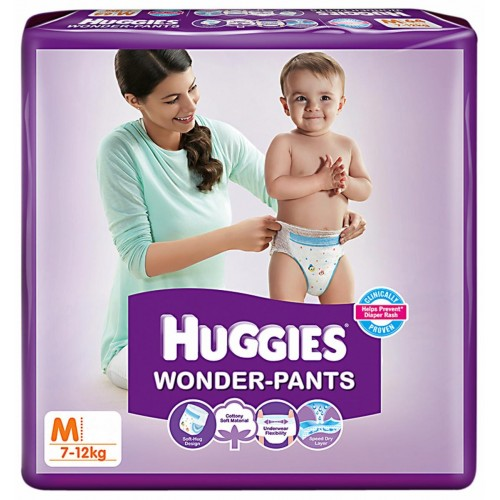 Huggies  Wonder Pants - Medium (7-12 Kgs)
