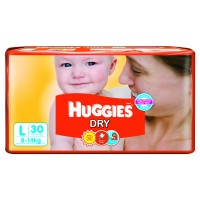 Huggies Diapers -Dry Large (8-14 Kgs)