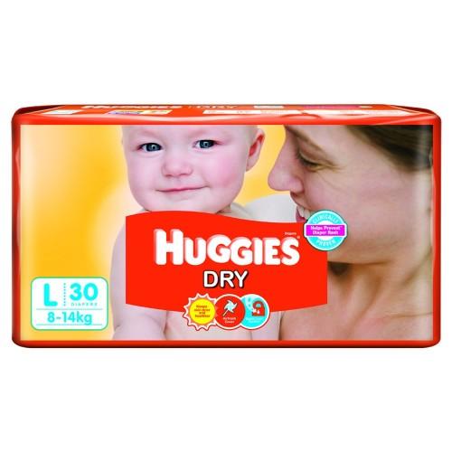 Huggies Diapers -Dry Large (8-14 Kgs)