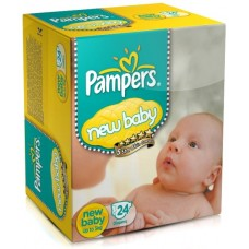 Pampers Diapers - New Born Baby (Upto 5 Kg), 24 Diapers