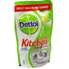 Dettol Dish & Slab Gel - Lime Splash (Refill Pack) , 130 ML