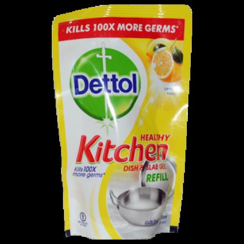 Dettol Dish & Slab Gel - Lemon Fresh (Refill Pack) , 130 ML