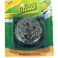 Good Home Stainless Steel Scrubber - Magnetic Grade , 1 PC