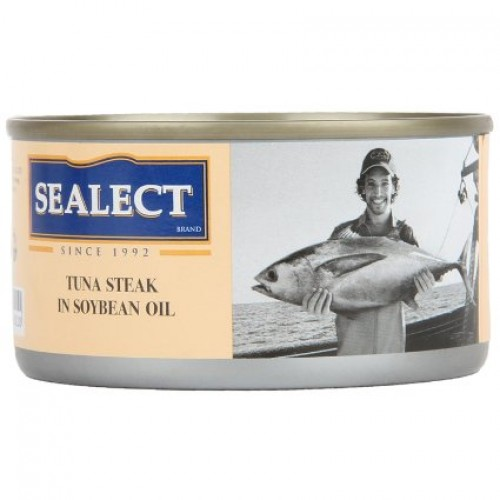 Sealect Tuna Steak - In Soybean Oil, 185 GM