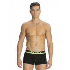 Jockey - Black & Neon Yellow Modern Trunk (POP) , Pack Of 1