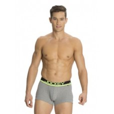 Jockey - Grey Melange & Neon Yellow Modern Trunk (POP) , Pack Of 1
