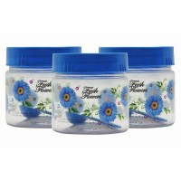 SKI Easy Pet Jar Blue 250 ML - Set Of 3