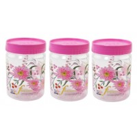 SKI Easy Pet Jar Pink 800 ML - Set Of 3