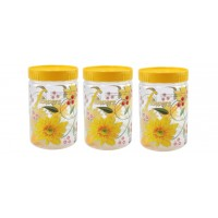 SKI Easy Pet Jar Yellow 1100 ML - Set Of 3