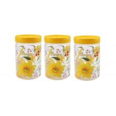 SKI Easy Pet Jar Yellow 1100 ML - Set Of 3