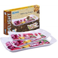 SKI Delight Tray - Set Of 3