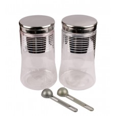 SKI Silver Line Plastic Container 500 ML - Set Of 3