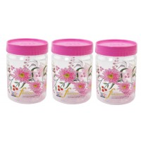SKI Easy Pet Jar Pink 1100 ML - Set Of 3