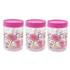 SKI Easy Pet Jar Pink 1100 ML - Set Of 3
