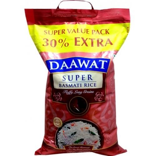 Daawat Basmati Rice - Super (25 % Extra)