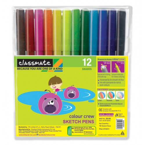 Classmate Sketch Pens - 12 Shades