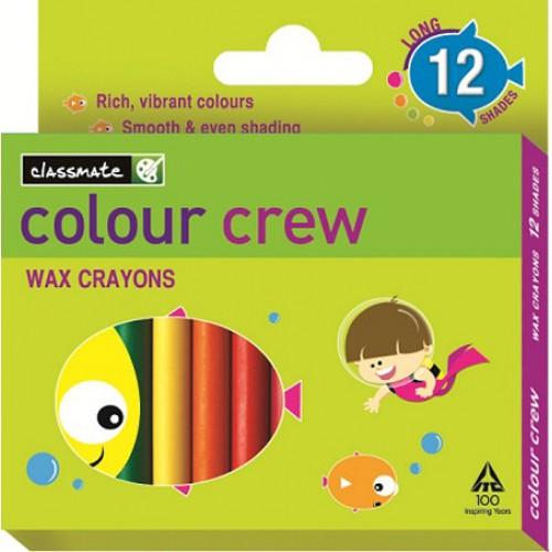 Classmate Wax Crayons - 12 Shades , 75 mm Length