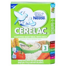 Nestle Cerelac  -  Wheat Rice Mixed Veg (Stage 3) , 300GM