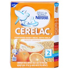Nestle Cerelac  -  Wheat orange (Stage 2) , 300GM