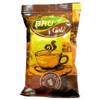 Bru Coffee Pouch - Gold