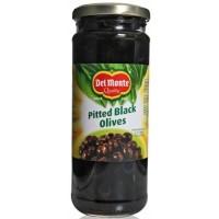 Delmonte Black Olives - Pitted , 450 Gm Jar