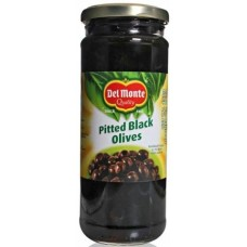 Delmonte Black Olives - Pitted , 450 Gm Jar