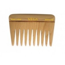 Vega Hand Made Wooden Comb - HMWC-05, 1 PC