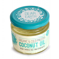 Dear Earth Organic Cold Pressed Coconut Oil, 300 ML