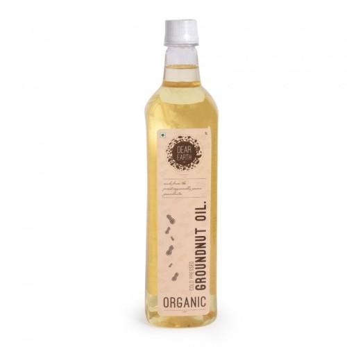 Dear Earth Organic Groundnut Oil, 1 Ltr