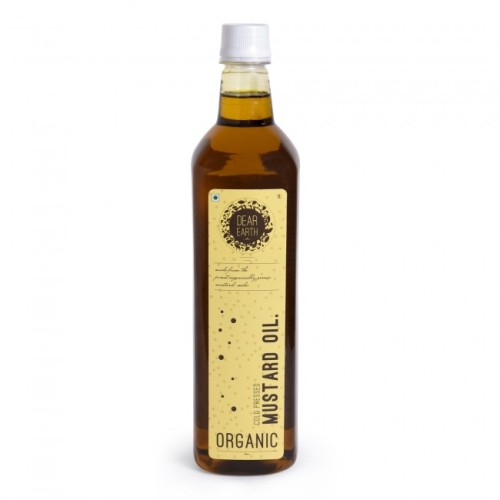 Dear Earth Organic Mustard Oil, 1 Ltr